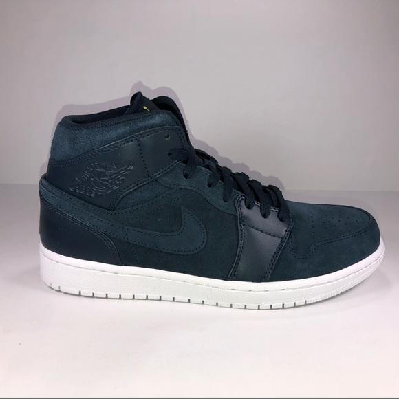 8073522fdc7 Jordan Shoes | Air Retro 1 Mid Armory Navy Blue Sneakers | Poshmark